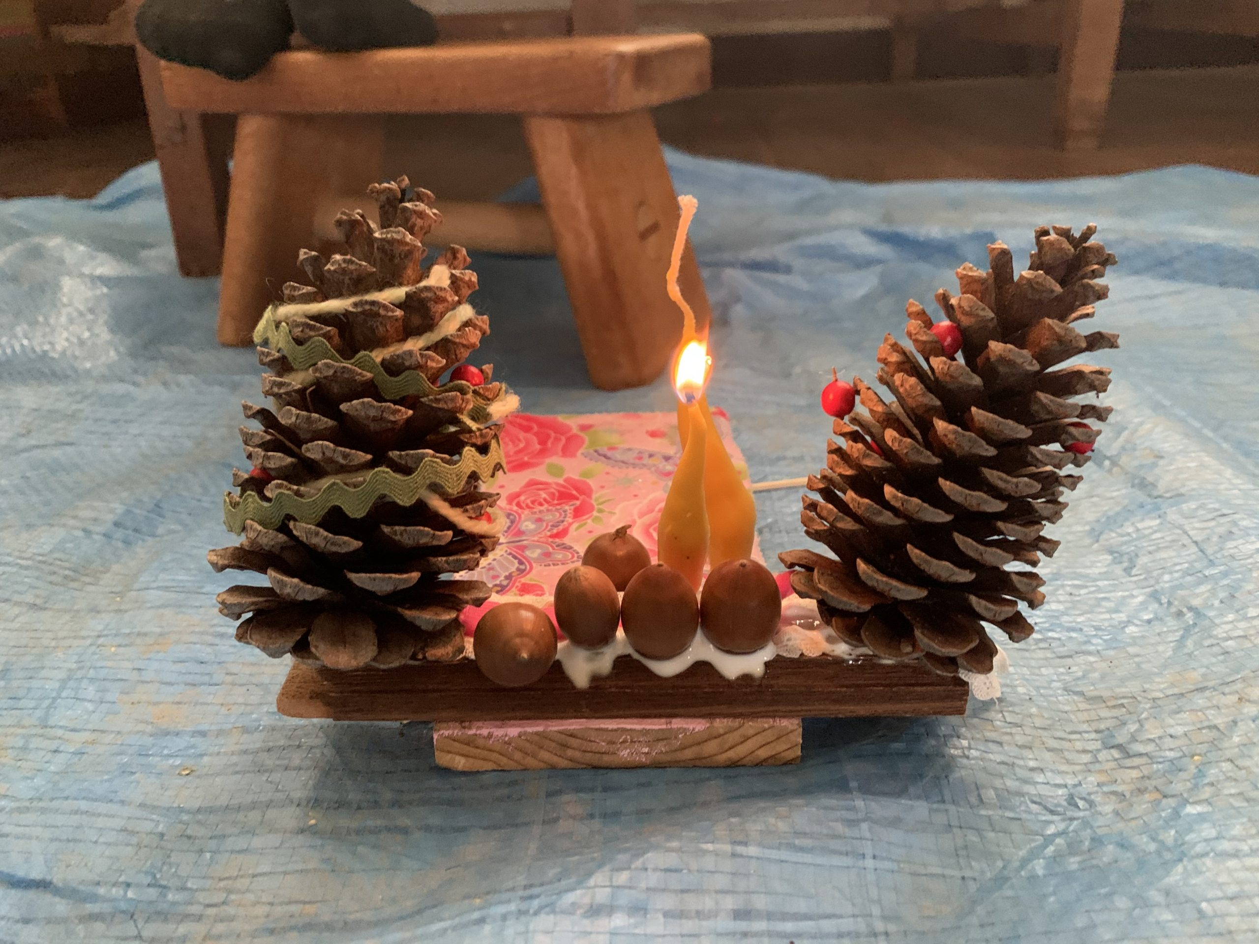 12月森のアトリエ~蜜蝋ろうそくでクリスマスパーティー~